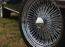 Колесо старого автомобиля спорт Стоковая Фотография