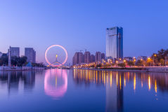 Колесо Тяньцзиня Стоковая Фотография