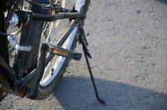 Колесо черного велосипеда заднее Стоковое Изображение RF