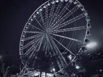 Колесо черно-белые 2 Атланты Ferris Стоковые Изображения