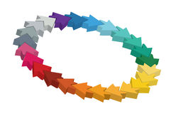 колесо шаблона цвета editable Стоковое фото RF