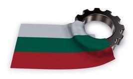 Колесо шестерни и флаг Болгарии Стоковое Изображение RF