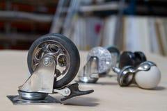 Колесо для софы и таблиц Ролик для мебели Стоковая Фотография