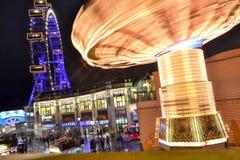 Колесо Carousel и Ferris Стоковые Изображения