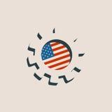 колесо cog 3D с флагом США Стоковые Фотографии RF