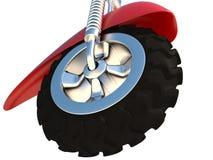 колесо, 3D Иллюстрация штока