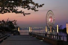 Ferris катит внутри заход солнца Стоковое Изображение RF