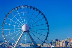 Колесо ferris замечания Гонконга стоковое фото rf