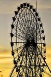 Колесо Ferris захода солнца стоковое изображение