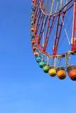Колесо Ferris и красочные гондолы Стоковое фото RF