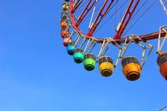 Колесо Ferris и красочные гондолы Стоковое Изображение RF