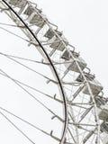 Колесо Ferris на белизне стоковые фотографии rf