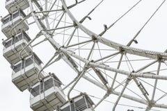 Колесо Ferris на белизне стоковое фото rf
