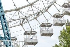 Колесо Ferris на белизне стоковая фотография