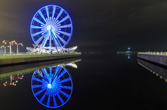 Колесо Ferris на бульваре в Баку Стоковое Фото