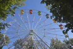 Колесо Ferris на горе большом Ahun в районе хосты Сочи Стоковая Фотография RF