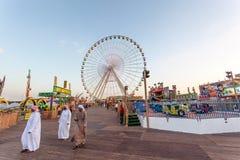 Колесо Ferris на глобальной деревне в Дубай Стоковое Изображение