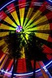 Колесо Ferris на ноче в зоне Kaluga (Россия) Стоковая Фотография RF