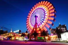 Колесо Ferris на ноче стоковое изображение rf
