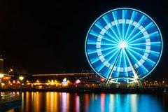 Колесо Ferris на ноче Стоковое фото RF