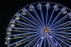 Колесо Ferris на ноче Стоковое Фото