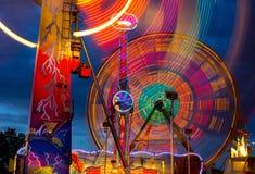 Колесо Ferris на ноче Стоковая Фотография