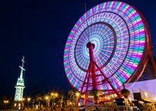 Колесо Ferris на порте Кобе стоковое фото rf