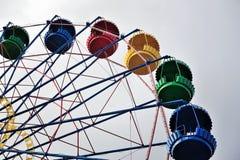 Колесо Ferris на предпосылке голубого неба Стоковая Фотография RF