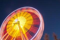 Колесо Ferris на предпосылке ночного неба Стоковое Изображение