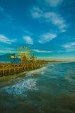 Колесо Ferris на пристани Санта-Моника, Калифорнии Стоковые Фото