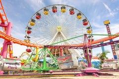 Колесо Ferris на пристани Санта-Моника - Лос-Анджелесе Стоковые Изображения