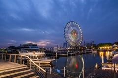 Колесо Ferris на Сучжоу, Китае Стоковое Изображение RF