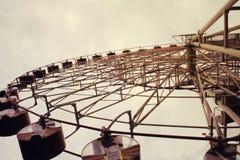 Колесо Ferris тонизированное в винтажном стиле стоковые изображения