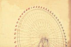 Колесо ferris Grunge гигантское Стоковая Фотография