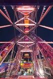 Колесо Luna Park масленицы ярмарки потехи панорамное Стоковые Изображения