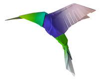 Колибри летания Origami Стоковое фото RF