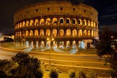 Колизей к ноча, Рим Италия Стоковые Фото
