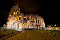 Колизей к ноча, Рим Италия Стоковая Фотография