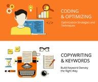 Кодировать и copywriting Стоковые Фотографии RF