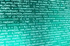 Кодировать программируя экран исходного кода Стоковое Фото