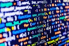 Кодировать программируя экран исходного кода Стоковая Фотография RF