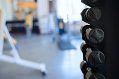 Количество гантелей в спортзале Стоковое Изображение
