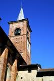 Колокола башни церков olona Castiglione день старого солнечный Стоковые Фото