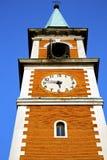 Колокола башни церков olona Olgiate день старого солнечный Стоковая Фотография