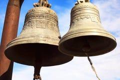 2 колокола в крепости Narikala - старом месте в Тбилиси Стоковое Изображение RF