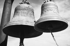 2 колокола в крепости Narikala - старом месте в Тбилиси Стоковое фото RF