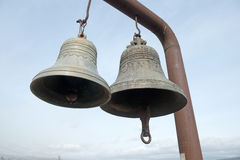 2 колокола в крепости Narikala Стоковая Фотография RF