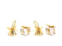 Колоколы и подарочные коробки Стоковая Фотография