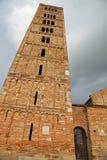 Колокольня аббатства Pomposa историческое здание в Италии Стоковое фото RF