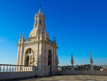 Колокольня монастыря St Винсента вне стен, Лиссабона, Португалии Стоковая Фотография RF
